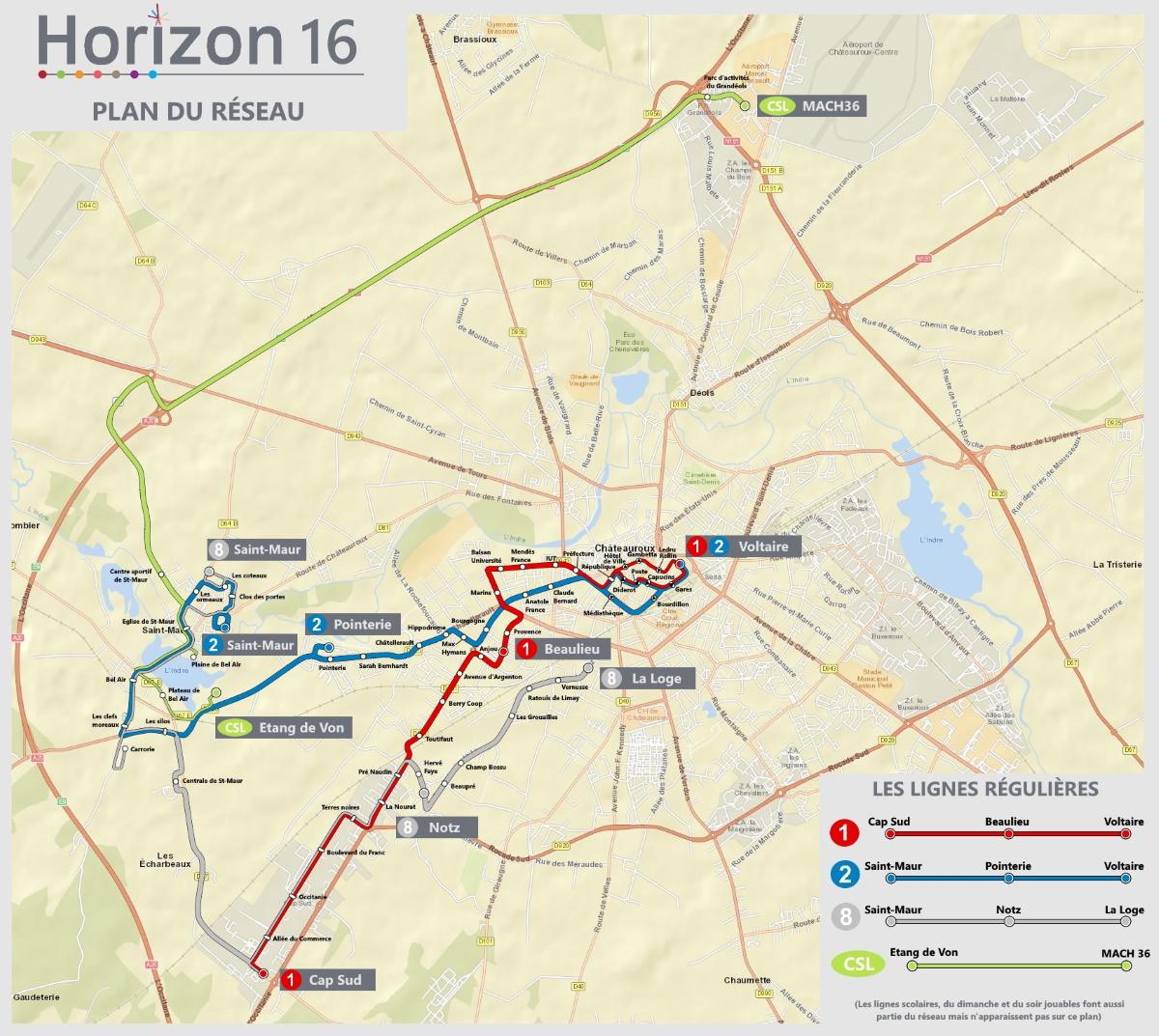 MAP Réseau HorizonBus // Horizon16 - Reale Karten - Marcels